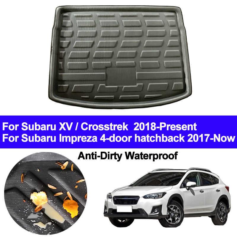 Авто Задние загрузки грузовой лайнер багажник пол ковры вставка коврики для Subaru XV crosstrek Impreza Хэтчбек 2018 2019