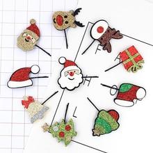 цена Hot Christmas tree deer hair clip for kids child hairpin BB clip sweet Santa Claus kids hair accessories онлайн в 2017 году