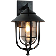 Vintage retro wall lamps iron black sconces rainproof indoor outdoor lights porch bar garden living room aisle