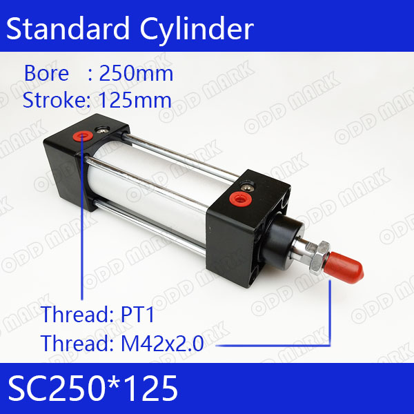 SC250*125 250mm Bore 125mm Stroke SC250X125 SC Series Single Rod Standard Pneumatic Air Cylinder SC250-125 sc250 175 s 250mm bore 175mm stroke sc250x175 s sc series single rod standard pneumatic air cylinder sc250 175 s