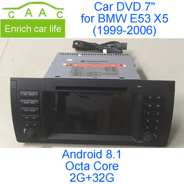 """Android 8.1 Octa Core 2G RAM 32G ROM GPS Navigation 7"""" Car DVD Player for BMW E53 X5 1999-2006 with Radio/Bluetooth/RDS/3G/WIFI"""