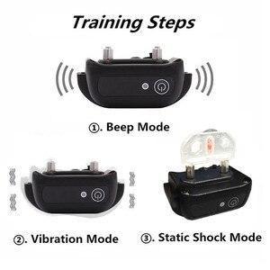 Image 4 - Su geçirmez Pet Köpek Eğitmen Yaka Uzaktan Şarj Edilebilir Köpek Bark Kontrol Eğitim Yaka Cihazı Titreşim Elektrik Çarpması Bip