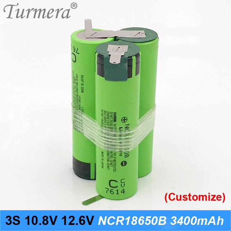 3s Battery 18650 Pack Ncr18650b 3400mah 10.8v 12.6v Welding Solder Battery For Screwdriver Tools Battery Customized Battery JAN4