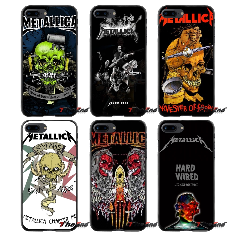 For Apple iPhone 4 4S 5 5S 5C SE 6 6S 7 8 Plus X iPod Touch 4 5 6 fashion Metallica Skull Metal Accessories Phone Cases Covers