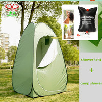2014 New FashionablePVC Green Portable Waterproof Outdoor Bath Change Clothes Tent Shower Toilet With Camp Shower