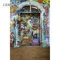 Laeacco гранж граффити кирпичная стена фон ПОРТРЕТНАЯ ФОТОГРАФИЯ фон Индивидуальные фотографические фоны для фотостудии