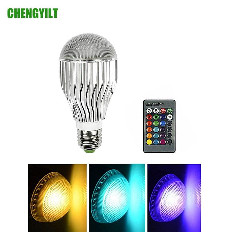 E27 E14 B22 Base RGB LED Bulb Aluminum Light AC85-265V 16 Colors LED Lighting Ball Lamp Dimmable Spotlight IR Remote Controller