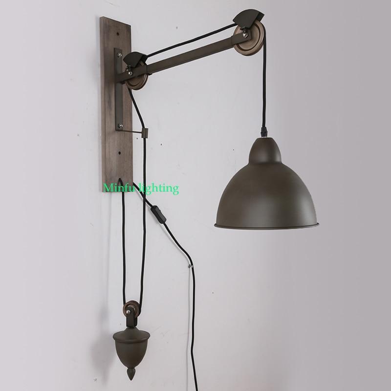 Retractable Wall Sconce Black Iron Lamp Loft Vintage Sconces Extend Arm Light Swing Led Lighting Homeusd 133 20 Piece
