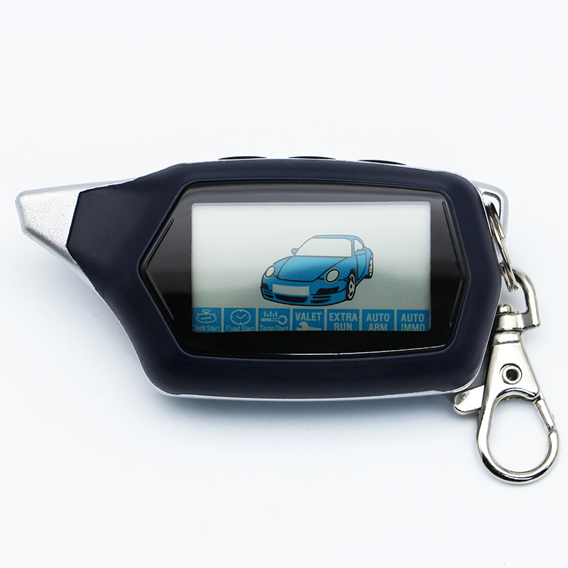Russian Version Keychain C9 Starline LCD Remote Controller For Two Way Car Alarm Starline C9 Twage Keychain alarm auto