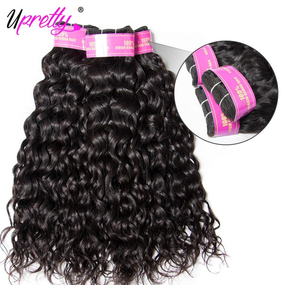 HTB1u.sly5OYBuNjSsD4q6zSkFXa0 Upretty Hair Water Wave Bundles With Closure Wet And Wavy Human Hair 3 Bundles With Closure Mink Brazilian Hair Weave Bundles