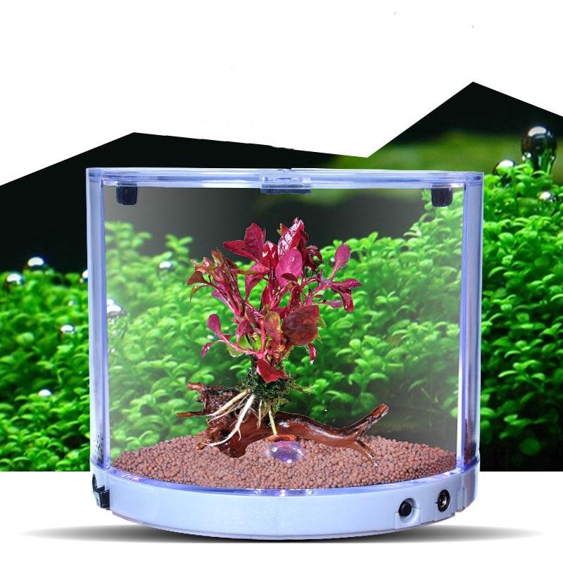 Mini Betta Tank Composable Aquarium Built In Colorful Led