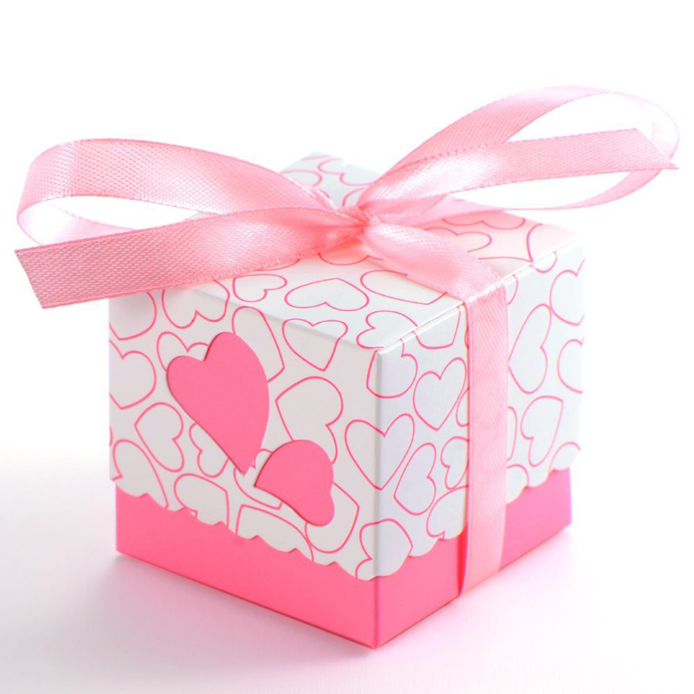 100pcs Double Hollow Love Heart Design Wedding Favor Candy Boxes ...