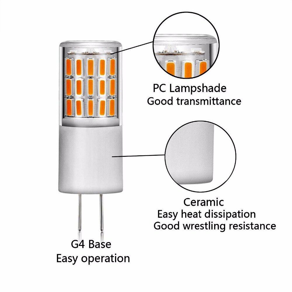 10pcs No flicker G4 LED Lamp 12V 3W 45LEDS SMD4014 lamp 360 Beam Angle LED Bulb Replace 30W Halogen Crystal Light Chandelier