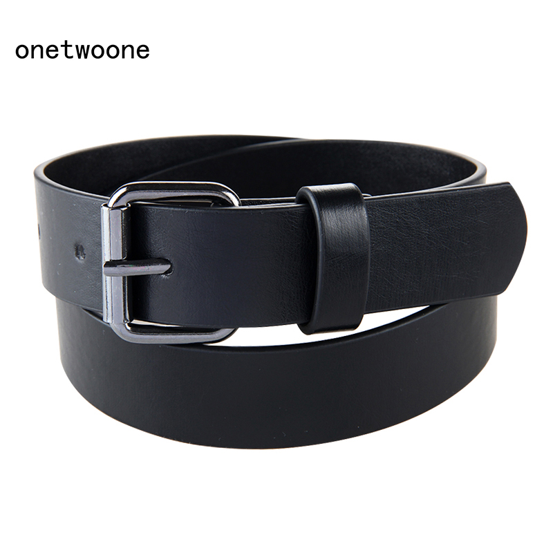Good Qaulity Black PU  Belt For Student School Boys Waist Straps Teens pu Leather Jeans Pants Trousers 75cm 80cm 85cm