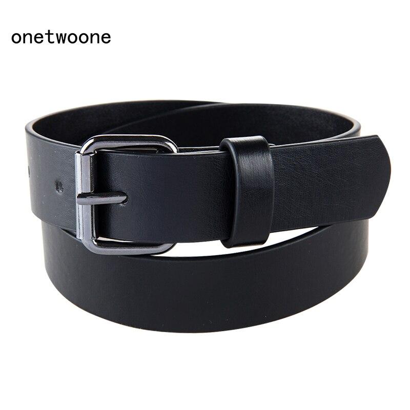 Good Qaulity Black PU  Belt For Student School Boys Waist Straps Teens pu Leather Belt For Jeans Pants  Trousers 75cm 80cm 85cm