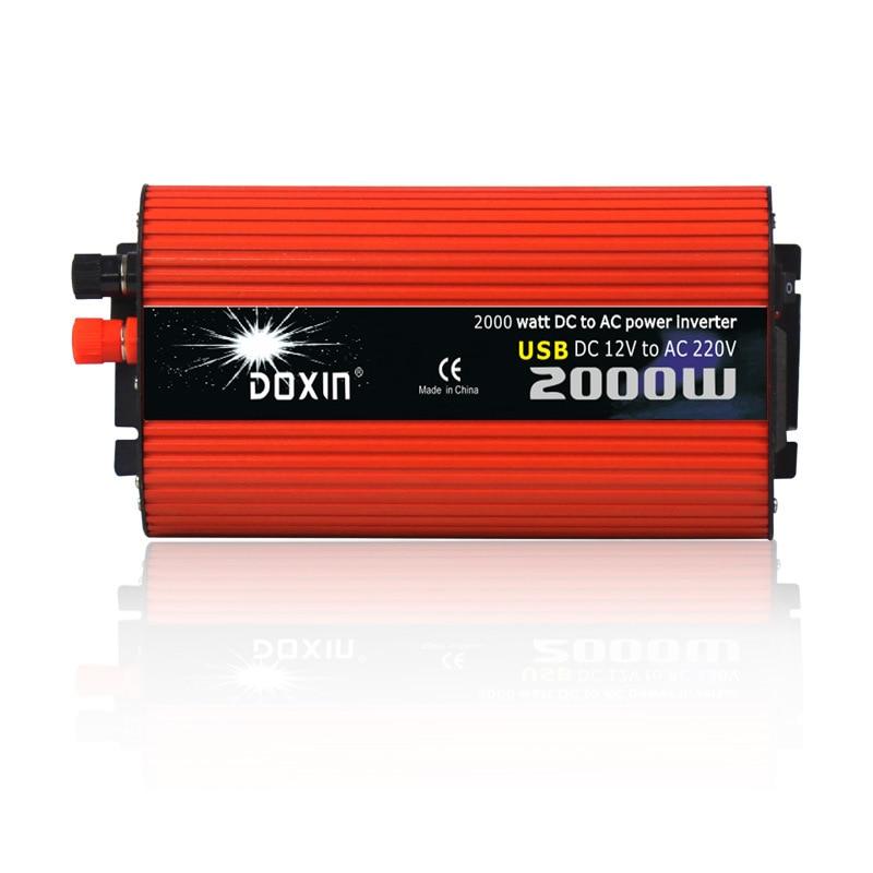 Voltage converter 12V to 220V 24V to 220V 2000W car inverter dual USB car inverter power converterVoltage converter 12V to 220V 24V to 220V 2000W car inverter dual USB car inverter power converter