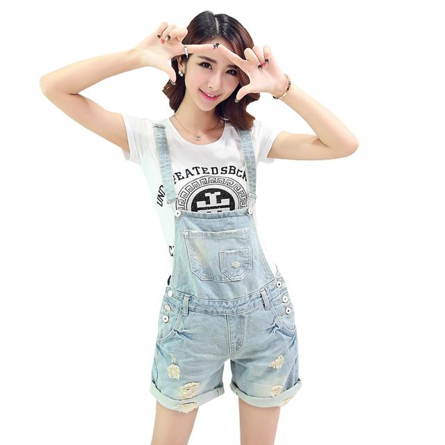 Estilo verão curto macacão jeans vintage plus size casual cruz sem encosto cinto bolso senhoras macacãozinho jumpsuit womens 2016