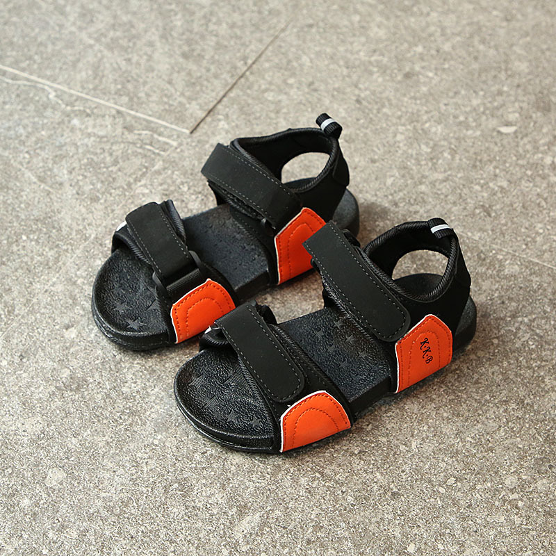 New Childrens Beach Sandals Open Toe Comfortable Casual PU Leather Sandals Kids boys and girls Fashion Antiskid sandals