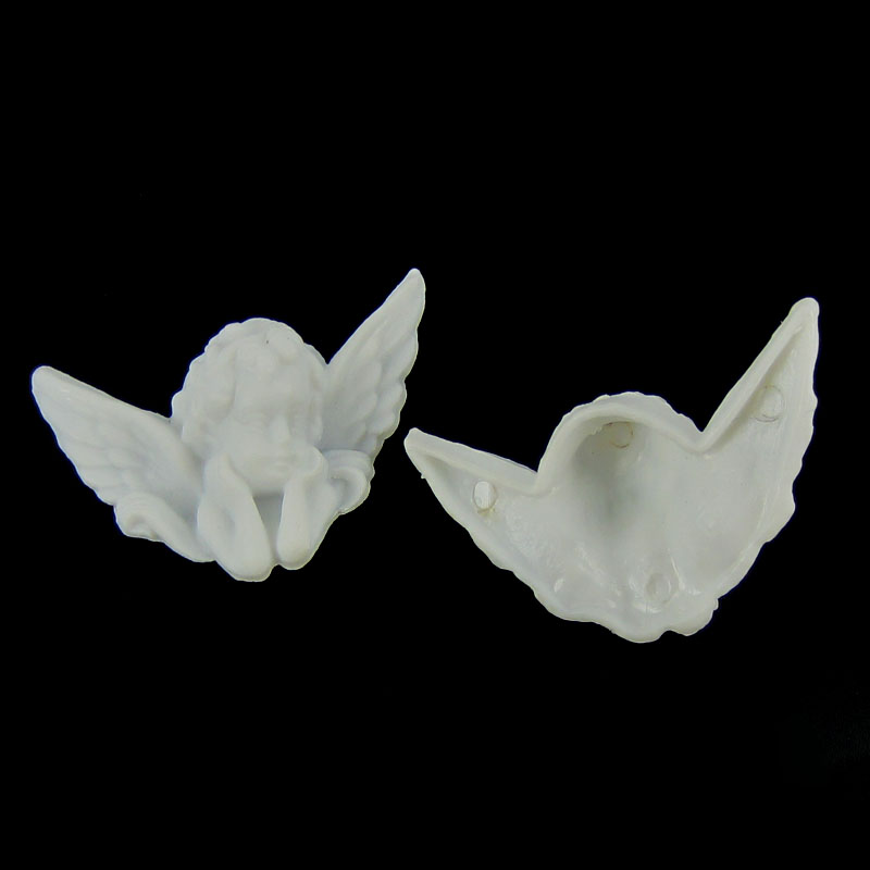 Image 4 - 12 pçs plástico branco asa anjo bebê contas de anjo encantos para  o bebê plástico anjo na festa decorações diy 32x50mmDecorações de  festas DIY