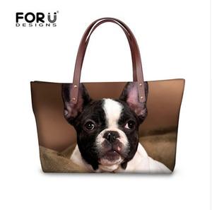 Image 2 - FORUDESIGNS Boston Terrier Handbags Women Hand Bags Designer Famous Woman Large Tote Beach Bag for Ladies Shoulder Dropshipping