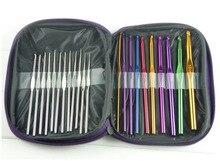 22Pcs Set Multi-colour Aluminum Crochet Hooks Needles Knit Weave Craft Yarn Sewing Tools Crochet Hooks Knitting Needles