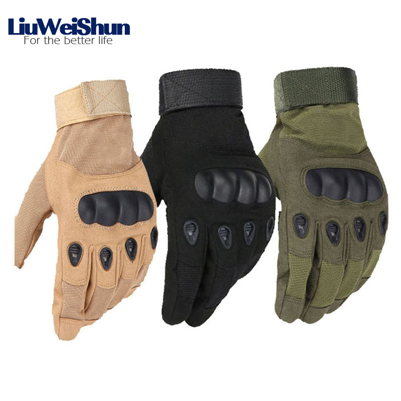 [LWS] High Quality Outdoor Tactical Gloves Men Full Finger Combat Military Gloves Militar Bicycle Anti-skid Cut Safety Gloves