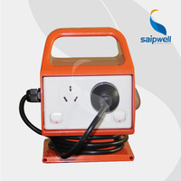 IP33 Austand 4 Gang Portable Power Outlet with RCD and Power Lead / Man pack Industrial 2 Socket & 2 Switch (SG10)