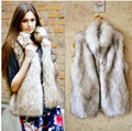 2014 Women's Autumn and Winter Faux Fur Vest warm up fashion flocking Waistcoat ladies' fashion outwear fur coat