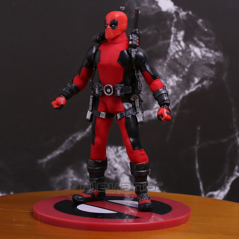 MEZCO Marvel X-men Deadpool 1/12 Scale PVC Collective Action Figure Model Toy neca epic marvel deadpool ultimate collectible 1 4 scale action figure model toy 16 45cm ems free shipping