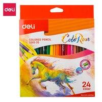 Deli EC00320 цветной карандаш 24C цветные карандаши для художественных школьных офисных принадлежностей