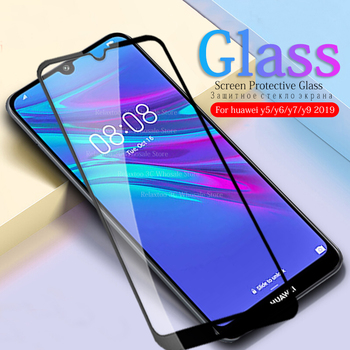 Protective Glass For Huawei Y5 2019 Tempered Glass For Huawei Y6 Y7 Y9 2019 Screen Protector Y 5 6 7 9 5Y 6Y 7y 9y Safety Film image