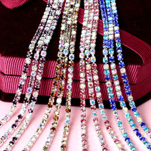 SEA MEW 2.5mm Mix Colour Crystal Sew Metal Claw Sewing Rhinestone Cup  Chains Claw Chains 1a99e8be5b62