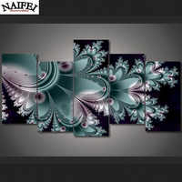 5pcs/set Full square Diamond Painting Cross Stitch Abstract Feather,5D Diamond Mosaic Embroidery feather Home Decoration gift