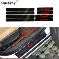 For Chevrolet Cruze Car Stying Door Sill Scuff Plate Welcome Pedal Threshold Protect Stickers 8pcs Carbon Fiber Vnyl