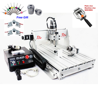 3D Mini CNC Engraving Machine 4 Axis CNC Router 6040 1.5KW Spindle Water Cooled Wood Metal Carving Machine