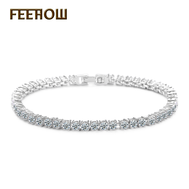FEEROW Exquisite Cut 3mm Round Cubic Zirconia Tennis Crystals