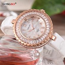 Watch Women 2019 LONGBO Brand Fashion Luxury Ceramic Bracelet Analog Lady Wristwatch Water Clock Relogio Feminino Montre Femme все цены
