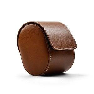 Image 5 - Fanxi saco de relógio preto couro do plutônio caso relógio de pulso com zíper caixa de jóias viagem portátil duas camadas de relógio organizador