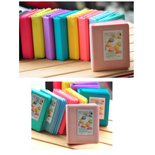 64 Pockets 3 Inch Candy Color Name Card Holder Photo Mini Book Album for Fujifilm instax LiPlay 9 7s 8 25 50s 90 Films