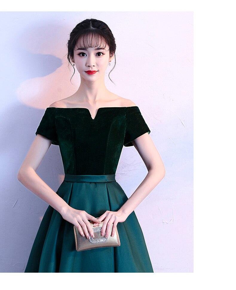 Robes de soirée en velours 2019 robe à lacets robe de soirée formelle robe de bal personnalisée robes robe de soirée - 5