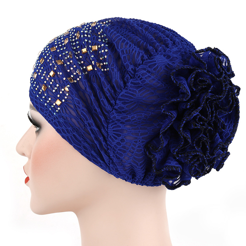 Aproms Candy Colors Women   Headwear   Lace Hot Drilling Headwrap African Head wrap Twist Hair Band Turban Bandana Hijab Accessories
