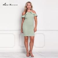 Lan Karswear 2018 여름 드레스 오프 어깨 슬림 섹시한 클럽 시스 Bodycon 파티 최소 드레스 3Xl Vestidos 무료 배송