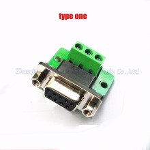 Female RS232 Serial port turn to wire terminals  DR9 DB9 turn to terminal 2/3/5 foot