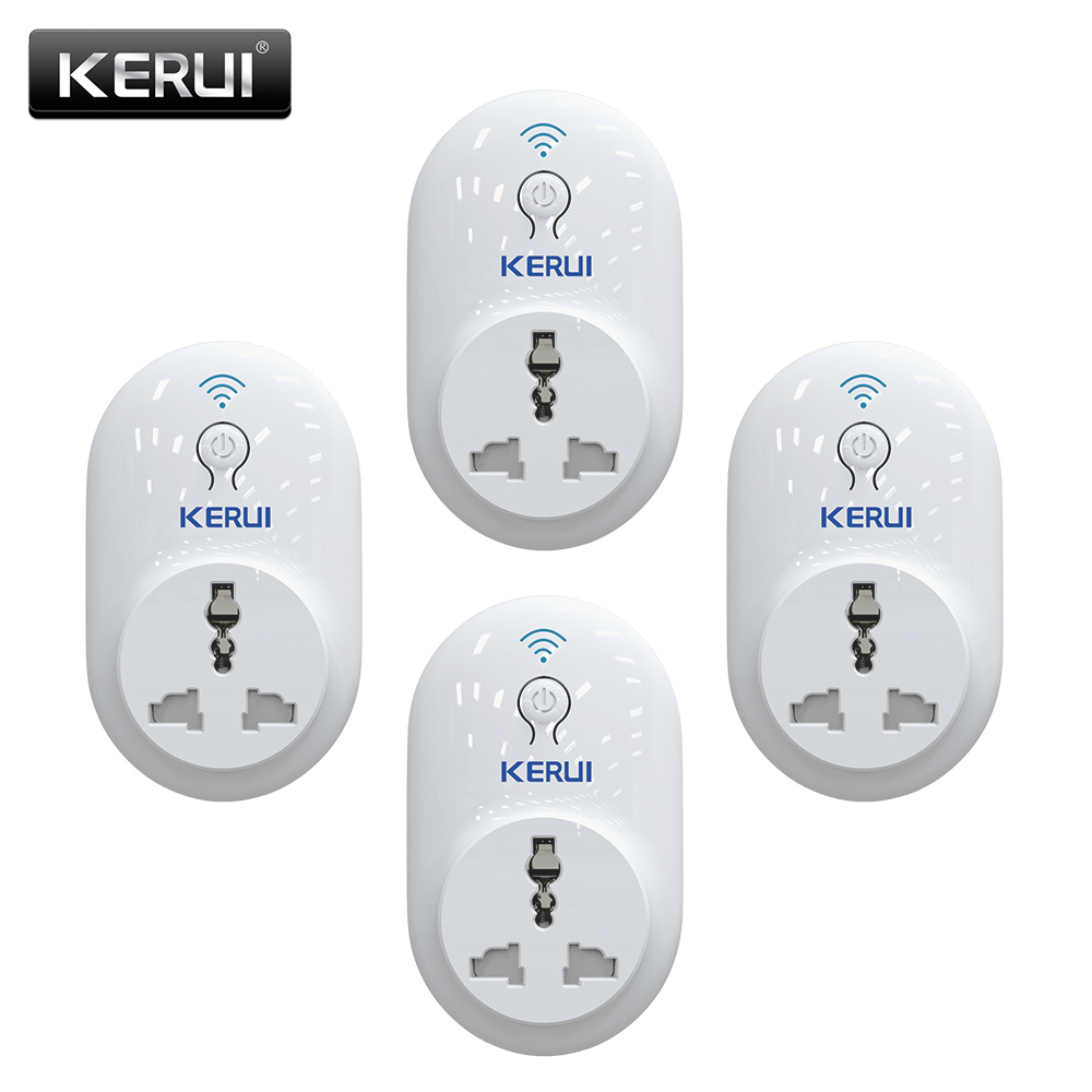 4pcs/lot KERUI Smart WiFi Remote Control Timer / Delay Socket Outlet Switch,IOS Android APP Control EU US UK AU Standard Power gorelax uk wifi wireless remote control socket smart timer plug smart home power socket uk standard via app phone
