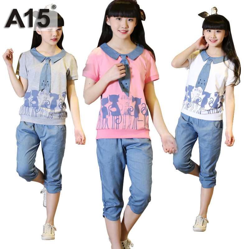 A15 Girls Summer Set 2018 Toddler Girl Clothing Set With -8021