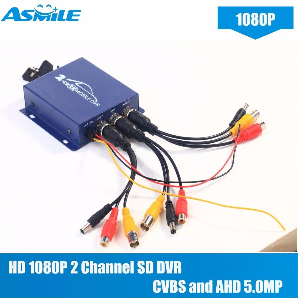 Здесь можно купить  smallest HD 1080P 2 Channel SD DVR with G711 audio compression, Audio and video synchronization from asmile   Безопасность и защита