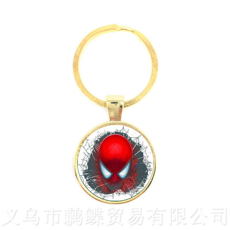 The Avengers Captain America Thor And Iron Man Keychains Glass Dome Cartoon The Hulk Keyring Personalized Gift For Cartoon Lover