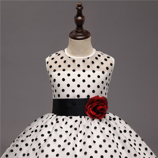 Dresses for Girls with Polka Dot Design