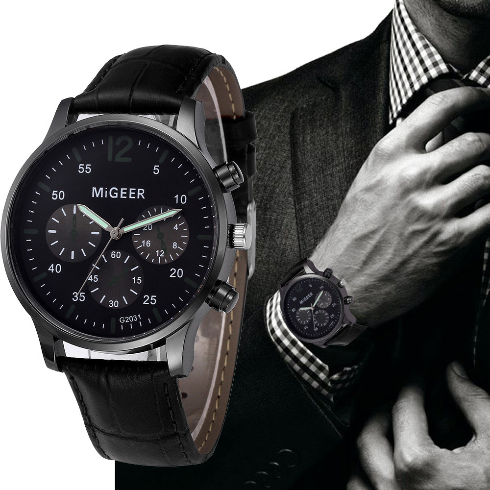 MIGEER 2018 Luxury Brand Men Watches Relogio Masculino Retro Design Leather Band Analog Alloy Quartz Wrtz Wrist Watch erkek saat fabulous 1pc new women watches retro design leather band simple design hot style analog alloy quartz wrist watch women relogio