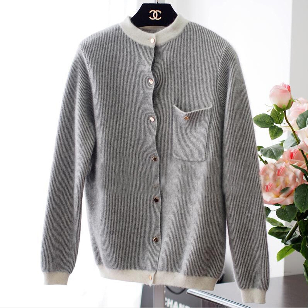 hot cardigans fashion trend real mink wool cardigan sweater women hot